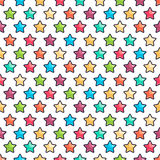 Cute colored stars. Seamless pattern with cute colored stars on a white background Royalty Free Stock Photo