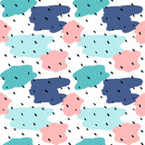 Cute colorful abstract seamless vector pattern background illustration Stock Photography