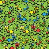 Cute colorful ants seamless pattern Stock Image