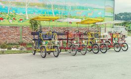 Cute bicycles. Cute colorful bicycles in the group Stock Photos