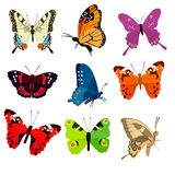 Cute colorful butterflies royalty free illustration
