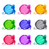 Cute colorful cartoon round buttons Stock Image
