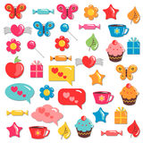 Cute colorful childish elements for design Stock Photography