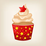 Cute colorful Christmas cupcake Royalty Free Stock Photography