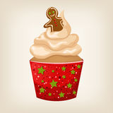 Cute colorful Christmas cupcake Royalty Free Stock Images
