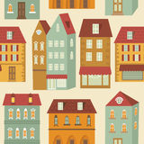 Cute colorful city pattern Stock Image