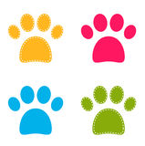 Cute colorful Doggie Paws Stock Photos
