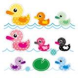 Colorful Little Duck stock illustration