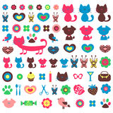Cute colorful elements for design set Stock Photography