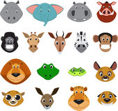 Cute colorful exotic animals collection Stock Photos