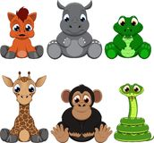 Cute colorful exotic animals collection. This is file of EPS10 format Stock Photo