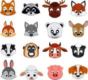 Cute colorful exotic animals collection. Vector Set Cute colorful exotic animals collection Stock Images