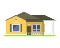 Cute colorful flat style house village symbol real estate cottage and home design residential colorful building. Construction vector illustration. Graphic Stock Image