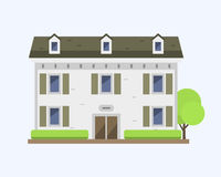 Cute colorful flat style house village symbol real estate cottage and home design residential colorful building Stock Images