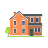 Cute colorful flat style house village symbol real estate cottage and home design residential colorful building Royalty Free Stock Photos
