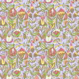 Cute colorful floral seamless pattern Royalty Free Stock Photo