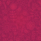 Cute colorful floral seamless pattern Stock Photography