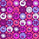 Cute colorful floral seamless pattern Stock Photos