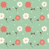 Cute colorful flowers seamless pattern oriental background illustration Royalty Free Stock Images
