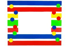 Cute Colorful Frame Stock Image