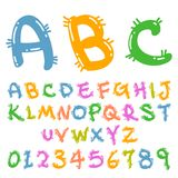 Cute colorful funny font. Cute Handwriting style funny font Royalty Free Stock Photography