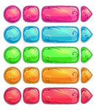 Cute colorful glossy buttons Stock Photo