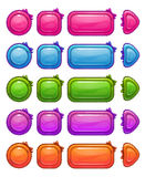 Cute colorful glossy girlie buttons Royalty Free Stock Image