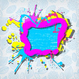 Cute colorful grunge frame Stock Photo
