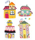 Cute Colorful Houses Stock Photos