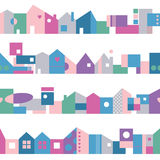 Cute colorful houses background Royalty Free Stock Photo
