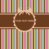 Cute colorful invitation card Royalty Free Stock Photos