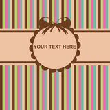 Cute colorful invitation cards Stock Images