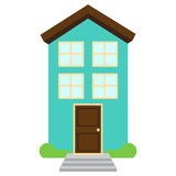 Cute and Colorful Isolated Vector Home Stock Image