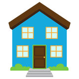 Cute and Colorful Isolated Vector Home Royalty Free Stock Image