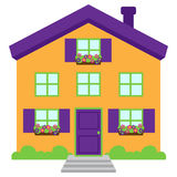 Cute and Colorful Isolated Vector Home Stock Images