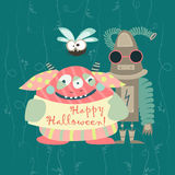 Cute colorful monsters Royalty Free Stock Image