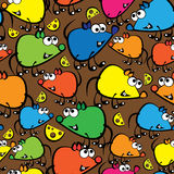 Cute colorful mouse seamless pattern  Royalty Free Stock Image