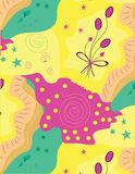 Cute colorful pattern. Cute colorful Seamless pattern vertor design for background or wallpaper Royalty Free Stock Photos