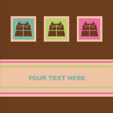 Cute colorful presents card Royalty Free Stock Image