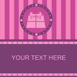 Cute colorful presents frame Stock Image