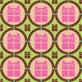Cute colorful presents pattern Royalty Free Stock Image