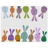 Cute colorful rabbits. Smiling Royalty Free Stock Photo