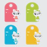 Cute colorful raccoon custom vector cartoon Royalty Free Stock Photography