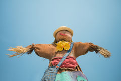 Cute colorful scarecrow Stock Photo