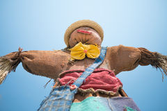 Cute colorful scarecrow Royalty Free Stock Photography