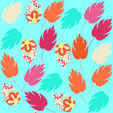 Cute colorful  seamless pattern with abstract colorful blue, ora Stock Photo