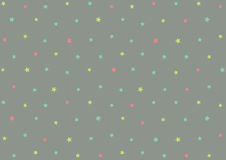 Cute colorful stars shape on grey background for your decoration Royalty Free Stock Photos