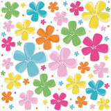 Cute colorful summer flowers background. Cute colorful summer flowers vector background Royalty Free Stock Image
