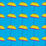 Cute colorful umbrellas. Seamless pattern with cute colorful umbrellas. Vector background stock illustration