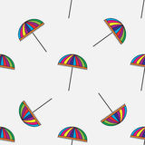 Cute colorful umbrellas. Seamless pattern with cute colorful umbrellas. Vector background Royalty Free Stock Image